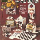 Plastic Canvas Pattern Booklet-Country COWS-Tissue Cover-Recipe Caddy-Coaster Se