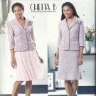 Plus Size Pattern-CHETTA B-Misses Jacket-Flower & Skirt in Sizes 14-16-18-20