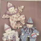 "Jenny Wren Doll Pattern-Old Time Clowns-24"" Dolls and Clothes"