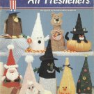 Plastic Canvas Pattern Booklet-Holiday Air Fresheners-Witch-Santa-Christmas Tree