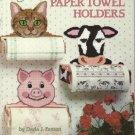 Plastic Canvas Pattern Booklet-Paper Towel Holders-Cat-Cow-Pig-Grandma-Duck