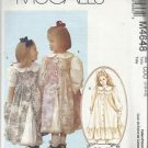 Pattern-Ruffles & Lace Treasured Collection-Children's Dress & Pinafore-Sz 2-5