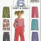 Butterick Pattern-6 Sew Fast & Easy-Children's Pants in Sizes 2-3-4-5  UnCut