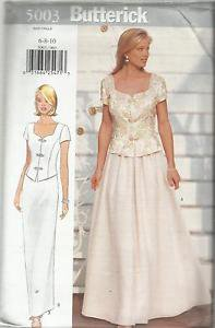 Butterick Pattern-Misses Top & Skirt in Sizes 6-8-10 Wedding  UNCUT