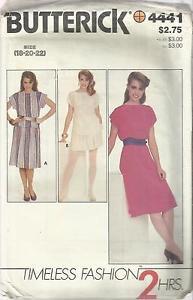 Plus Size Butterick Pattern-2 Hrs. Misses Dress-Top-Skirt  Sz 18-20-22  UNCUT