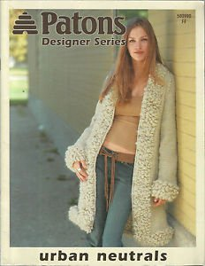 Knitting Pattern Booklet-Patons Designer Series Urban Neutrals