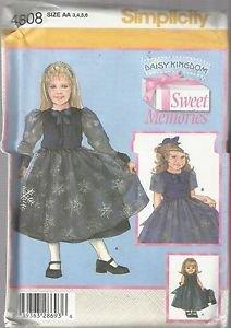 "Simplicity DK #4808-Child's Dress-Jacket-Doll Clothes 18"" Doll Sz 3-4-5-6"
