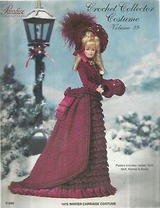 Crochet Collector Costume Vol. 29-1875 Winter Carrage Costume-BARBIE