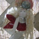 Handmade Mermaid Ornament and Home Decor Wall Hanging-Red