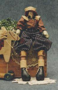 """Fruitful Hands Doll Pattern-Primitive 23"""" Raggedy Andy Doll & Clothes  UNCUT"""