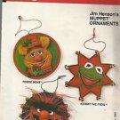 Vintage VOGUE Pattern #8533-Christmas Jim Henson's MUPPET ORN.-Kermit-Bear-Anima