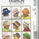 McCall's Fashion Accessories #M5118-Infant Hats