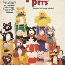 """Plastic Canvas Pattern Booklet-Pyramid Pets-9 Poseable 5 1/2"""" Critters"""