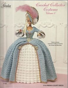 Crochet Collector Costume Vol. 2-1775 French Court Dress-BARBIE