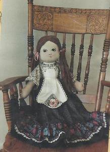 """Osage County Quilt Factory Doll Pattern-22"""" Cloth Doll & Clothes"""