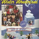 Plastic Canvas Pattern Booklet-Winter Wonderland-Tissue Box Cover-Draft Stopper