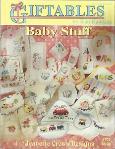 Cross Stitch Patterns-GIFTABLES Baby Stuff by Sam Hawkins-Jeanette Crews Designs