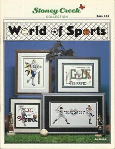 2 Sports Cross Stitch Pattern Booklets-Super Sports 4 & Worlds Of Sports-Stoney