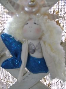 Handmade Mermaid Ornament and Home Decor Wall Hanging-Blue