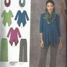 Simplicity Plus Size Pattern #1323 Misses Knit Tunic & Pants-Scarf  Sz 14-22
