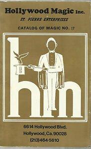 Vintage Book-Hollywood Magic Inc.- St Pierre Enterprises- Catalog No. 17