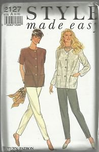 Style Made Easy Pattern-Misses Jackets and Trousers   6-18