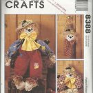 """McCall's Crafts Pattern #8388-The Family Tree-SCARECROWS-36"""" Doll-Wreath-Hanging"""