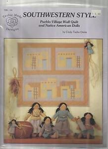 Doll & Quilt Pattern Booklet- Pueblo Village Wall Quilt & Native American Dolls