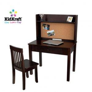 Kidkraft Pinboard Desk and Chair in Espresso KK27150