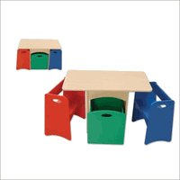 KidKraft  Table With Primary Benches Set KK26161 Multi