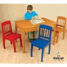 Kidkraft Euro Honey Table & 4 Primary Chairs KK26175 Multi