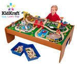 Kid Kraft Ride Around Town Train Set w/ Table  KK17836  Multi
