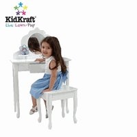 KidKraft  KK13009      Medium  Vanity and Stool   White
