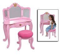 Kidkraft Pink Princess Vanity & Seat KK76125