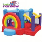 Kidwise Multi Color Lucky Rainbow  Bouncer and Ball Pit KWSS-RB-601