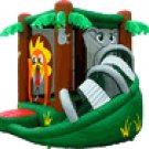 Kidwise Multi Color Safari Bounce House w/Slide  # FJC-501
