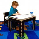 Anatex Flip Top Dry Erase and Chalk Table /1 BenchFTD0569 Espresso