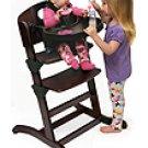 Badger Basket Wood Convertible Espresso High Chair 91800