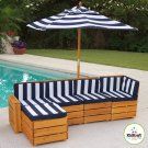 Kidkraft  Childs  Out Door  Sectional  KK00173   Multi