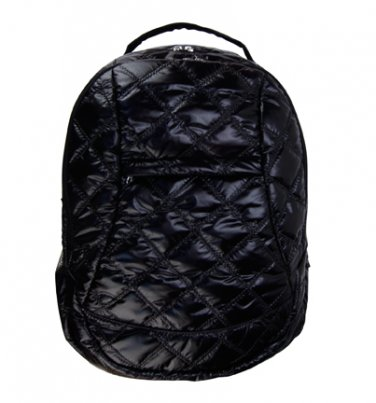 Trend Lab Baby Diaper Bag Black Quilted Voyager Backpack #104336