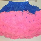 12 INCH FEMININE  MAID  MINI PETTICOAT PETTISKIRT S-M-L  ROYAL BLUE