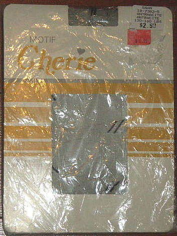 VINTAGE CHERIE PANTYHOSE NEW IN PACKAGE MOTIF SIZE B