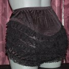 RUFFLE all nylon black sissy lacy rhumba tennis panties s m l xl frilly