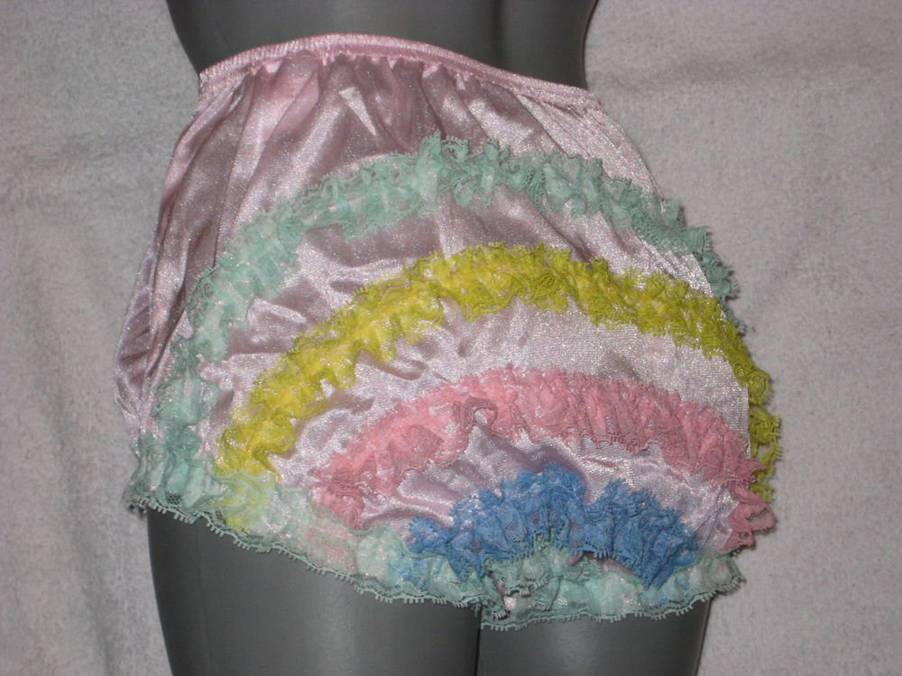 VINTAGE  STYLE LIGHT  PINK  CAN CAN RUFFLE PANTIES Med-lge-XL
