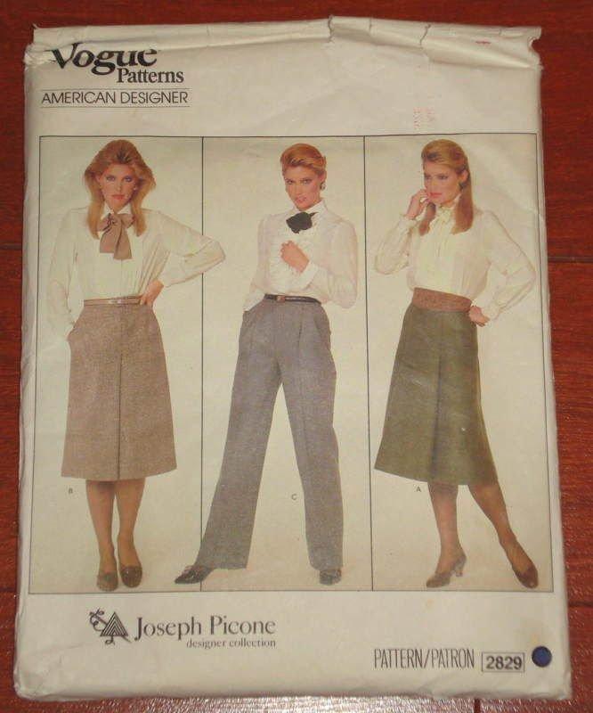 VINTAGE 1980's VOGUE AMERICAN DESIGNER  SIZE 12 #2829