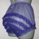 CD ULTRA SHEER GIRLY VINTAGE STYLE  PURPLE  PANTIES  PANTIES M-L-XL