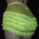 GIRLY VINTAGE STYLE  SHEER  GREEN  NYLON SISSY RUFFLE  PANTIES  LARGE