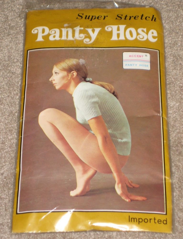 VINTAGE SUPER STRETCH   PANTY HOSE  ONE SIZE  NICE LEGS BROWN