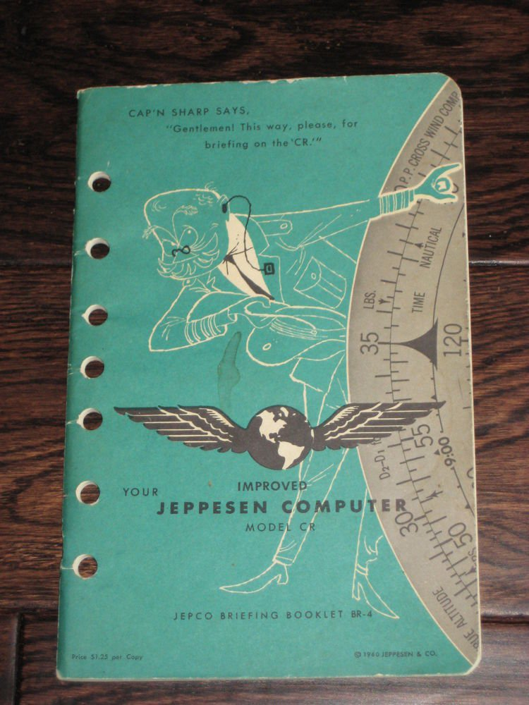 YOUR IMPROVED JEPPESEN COMPUTER MODEL CR  manual  1960 publication