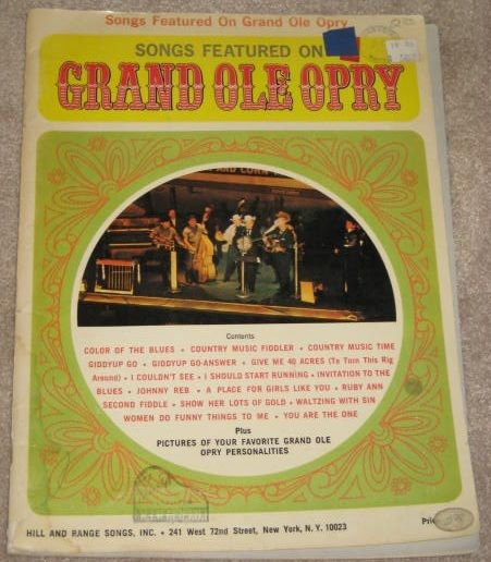 SONGS FEATURED ON THE GRAND OLE OPREY 1968